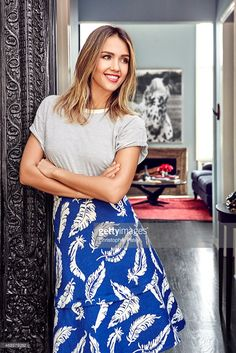 Actress and Honest Company founder Jessica Alba is photographed inside her newly designed vacation rental home designed by Consort Design for Domaine Home on February 23, 2015 in Los Angeles, California.