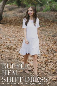 DIY FRIDAY: RUFFLE HEM SHIFT DRESS (MATERNITY or NON MATERNITY)