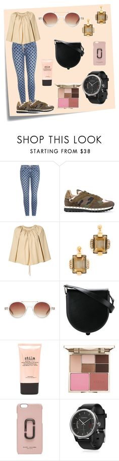 """""""Lemaire Pleated Blouse..**"""" by yagna ❤ liked on Polyvore featuring Post-It, Current/Elliott, Valentino, Lemaire, Marni, Komono, Stila, Marc Jacobs, Garmin and vintage"""