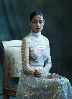 """alivetotellthetail: """"In the Mood for Luxe"""", for Harpers Bazaar, India by Ashish Shah."""