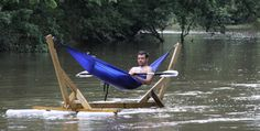 So so cool! The great guys at OurLifeOutside.com are at it again with their Hammock raft! #imagination