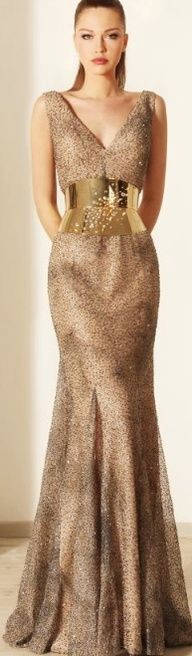 I love this gold corset belt from Rami Kadi Couture 2012 Collection Couture, Dress Collection, Spring Collection, Beautiful Gowns, Beautiful Outfits, Stunning Dresses, Mode Glamour, New Years Eve Dresses, Golden Dress