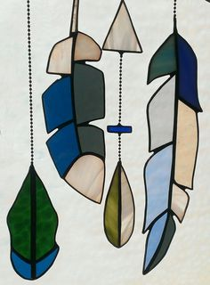 Stained Glass Collection of Feathers and Arrow in by SarahBrueck