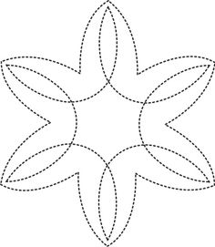 Stencil Quilting BJ57 Snowflake quilt Art Paint Craft 9 inch(23cm ... : snowflake quilting stencil - Adamdwight.com