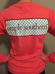 This cute long-sleeved tee from Simply Southern has a pocket on the front… Simply Southern T Shirts, Southern Outfits, Country Shirts, Preppy Outfits, Cute Summer Outfits, Cute Outfits, Southern Shirt, Southern Style, Southern Prep