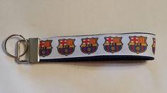 Handcrafted Football Club Barcelona Barca Key Chain Wristlet NEW