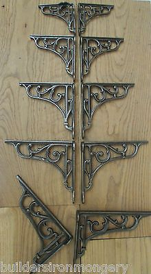 Pair of #vintage #classic old victorian scroll #shelf brackets bracket cast iron,  View more on the LINK: http://www.zeppy.io/product/gb/2/121996299150/