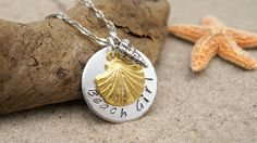 Fine Silver and Vermeil Gold Necklace - Keepsake - A Forever Gift by Cheydrea www.cheydrea.com