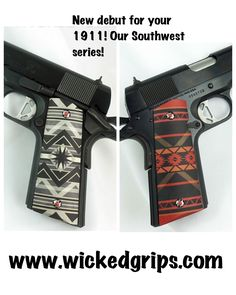 Hand Guns, Wicked, Tattoos, Firearms, Pistols, Tatuajes, Tattoo, Tattos, Tattoo Designs