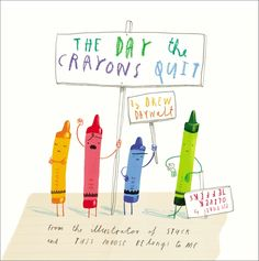 [Free eBook] The Day the Crayons Quit, Author : Drew Daywalt and Oliver Jeffers Funny Books For Kids, Funny Kids, Crayon Book, Oliver Jeffers, Friendly Letter, Classroom Freebies, Book Week, Children's Literature, Read Aloud