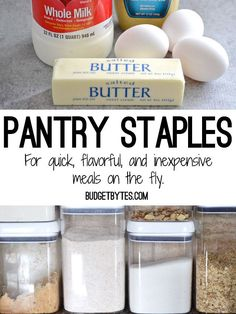 Stock Your Kitchen: Pantry Staples - Budget Bytes