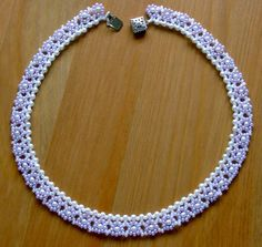 Free pattern for beaded necklace Avalon U need: seed beads 11/0 pearl beads 2-3…