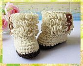 TOP SALES!!Handmade Crochet Baby Shoes Crocheting Baby Shoes Woven Boots for Baby Shower Greetings(AYY-001)