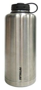 Lifeline 7508 Double Wall Stainless Steel, Vacuum Insulated 64+ (See Review) Growler. Vacuum Insulation keeps beer cold for a long time without refrigeration and prevents condensation from forming…