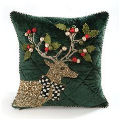 Christmas Cushion Covers, Christmas Cushions, Christmas Time, Christmas Crafts, Christmas Decorations, Holiday, Deer Pillow, Christmas Bedding, Cushion Cover Designs