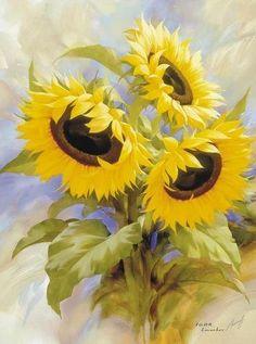 """Tablou """"Floarea soarelui"""" inramat"""