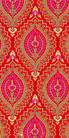Gorgeous red and pink free iphone wallpaper background design. Surface Pattern, Pattern Art, Surface Design, Pattern Design, Indian Patterns, Textile Patterns, Embroidery Patterns, Pretty Patterns, Color Patterns