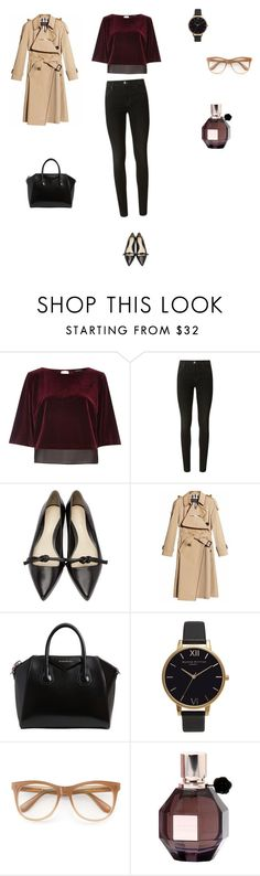 """Untitled #3611"" by smaranda-panfil ❤ liked on Polyvore featuring River Island, J Brand, 3.1 Phillip Lim, Burberry, Givenchy, Olivia Burton, Wildfox and Viktor & Rolf"