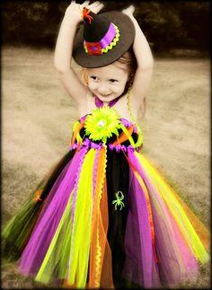 DIY kids witch tutu costume  6339cca844e9