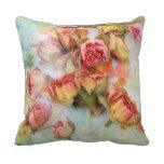 Dry roses vintage pillow