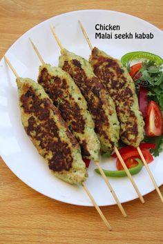murgh malai seekh kabob kabab recipes