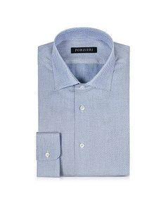 Prezzi e Sconti: #Camicia in cotone azzurro e bianco melange  ad Euro 38.40 in #Abbigliamento camicie #Moda