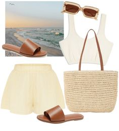 me Outfit | ShopLook Beach Day Outfits, Sunnies, Sunglasses, Pastel Yellow, Outfit Maker, Retro Fashion, Heeled Mules, Heels, Fitness