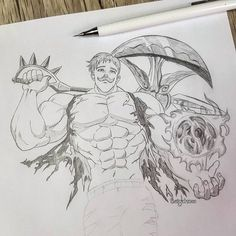 Who is your favorite sin? Seven Deadly Sins . Seven Deadly Sins Anime, Seven Deadly Sins Tattoo, 7 Deadly Sins, Naruto Drawings, Anime Drawings Sketches, Anime Sketch, Cool Drawings, Demon King Anime, Demon Art
