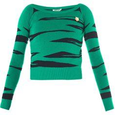 Kenzo Tiger jacquard-knit sweater - Polyvore