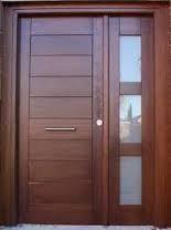 Resultado de imagen para puerta principal de madera minimalistas