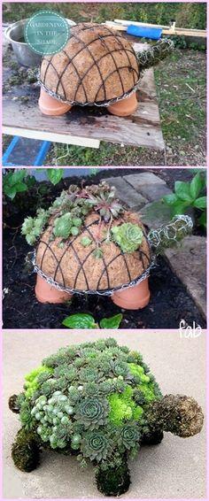 DIY Succulent Turtle Tutorial-Video. This is just so darn cute! Handmade really is love. #GardeningIdeas
