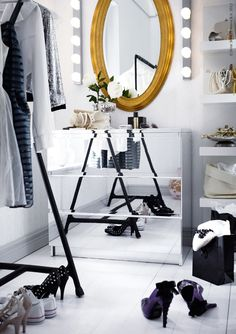 IKEA Malm with mirrors