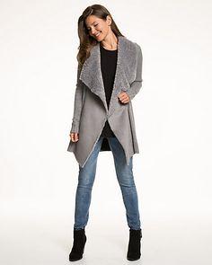 Cardigan+en+tricot+à+texture+fantaisie