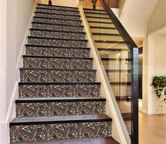 Stair Risers Murals & Decals - U. Delivery Page 7 Tiles Texture, Marble Texture, Texture Art, Stair Risers, Stairs, Photo Mural, Marble Tiles, Staircase Design, Home Remodeling
