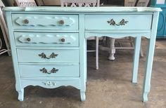 """Check out this adorable French desk! The little princess would love it. Heck it will make her want to do her homework more! LOL  The dimensions are 44"""" L, 17"""" W, 30"""" H. SOLD!! For $250"""