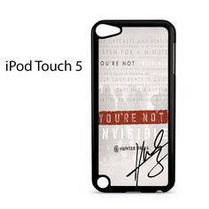 Invisible Hunter Hayes Lyric Quotes With Signature Ipod Touch 5 Case