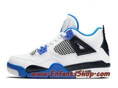 Air Jordan 4 Retro Motorsports Chaussures Basket Jordan Pas Cher Pour Homme Bleu Blanc 308497-117 Jordan 4, Jordans Sneakers, Air Jordans, Baskets Jordan, Basket Pas Cher, Nike Air, Shoes, Fashion, Nike Shoes