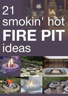 21 smokin hot DIY firepit ideas! YESSSS!