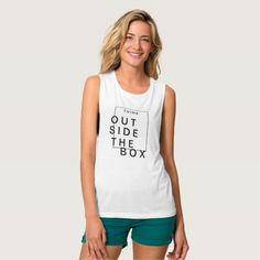Think Outside The Box | Chic Inspirational Tank Top