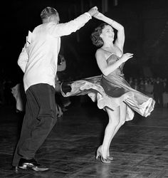 Couple jive dancing, Haringey 1956