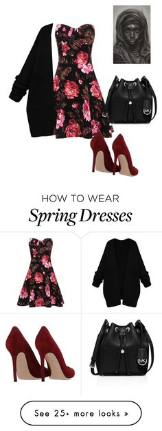 """""""# pink"""" by adinayasin on Polyvore featuring Gianvito Rossi, MICHAEL Michael Kors, women's clothing, women's fashion, women, female, woman, misses and juniors"""