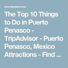 The Top 10 Things to Do in Puerto Penasco - TripAdvisor - Puerto Penasco, Mexico Attractions - Find What to Do Today, This Weekend, or in September