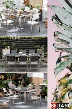 Wenn Sie ein besonders schönes und edles Gartenmöbel für Ihren Garten möchten, dann liegen Sie mit einem Granitmöbel genau richtig. Ein Granit Tischset ist nicht nur extrem witterungsbeständig, sondern auch ist durch die Farbe und Oberfläche der Granitplatte ein einzigartiges Designerstück. Mit einem pflegeleichten Granit Tisch erhalten Sie ein hochwertiges Produkt, welches Ihnen lange Freude bereiten wird. Designer, Rest, Table Decorations, Furniture, Home Decor, Be Creative, Granite Tops, Modern Outdoor Furniture, Waiting