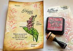 Layers of ink: Vintage Foxglove Art Journal Tutorial Art Journal Tutorial, White Gel Pen, Positive Messages, Artist Trading Cards, Old Paper, Simon Says Stamp, Mixed Media Canvas, Art Journal Pages, Distress Ink