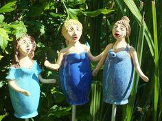 "Gartenchor ""Big Bells"" Figur Zaunhocker Rosenkugel"