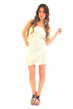 Linda Lux Lace Tube Dress