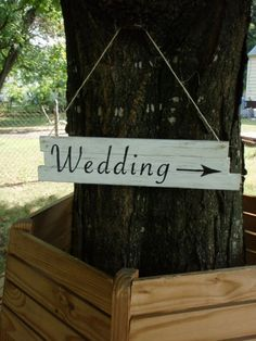 for sale on etsy!  rustic wooden wedding sign!