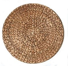 Round Water Hyacinth Placemat | Brown