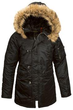 Женская куртка-аляска Alpha Industries N-3B W Parka Black купить в Санкт-Петербурге