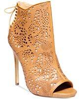 27790e5801b Steve Madden Women s Korsett Open-Toe Booties Black Peep Toe Heels